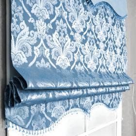 Римская штора со стеклярусом